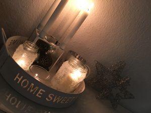 Schnee Kerzenhalter