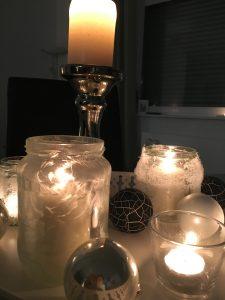 Eiskristall Kerzenhalter