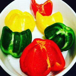 Süßkartoffel Wedges & gefüllte Paprika
