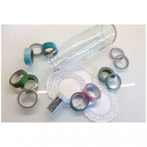 Masking Tape Deko Gläser