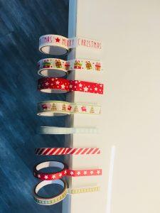 Kerzen Weihnachtskarten mit Masking Tape