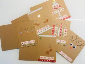Weihnachtsbaum Weihnachtskarten mit Masking Tape