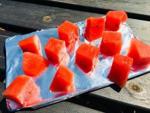Melonen Eiswürfel