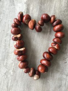 Kastanien Herz