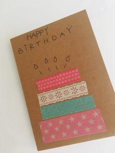 Gratulationskarte zum Geburtstag