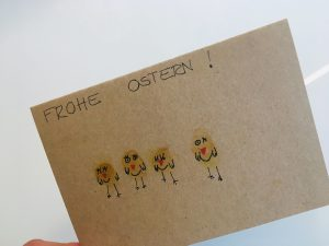 Küken Osterkarte