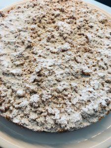 Streuselkuchen mit Haselnuss Streuseln