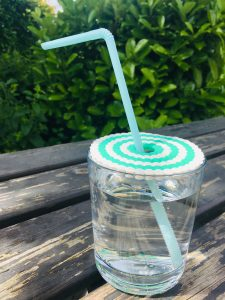 Sommerliche Getränkeabdeckung