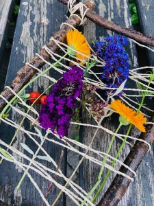 Blumen Webrahmen