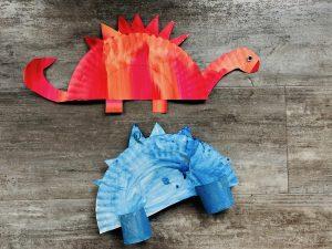 Papierteller Dinos