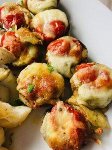 Gefüllte italienische Pilze