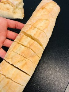 Schnelles Kräuterbaguette