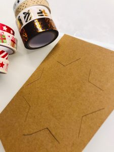 Stern Weihnachtskarten mit Masking Tape