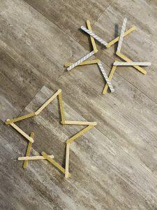 Stern aus Eisstielen